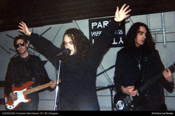 Las Novias - Heaven, Zaragoza, 18-01-90 © Archivo Las Novias