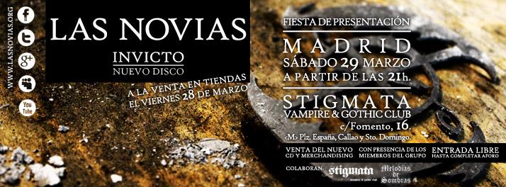 Fiesta de presentación del disco en Madrid 29-3-14