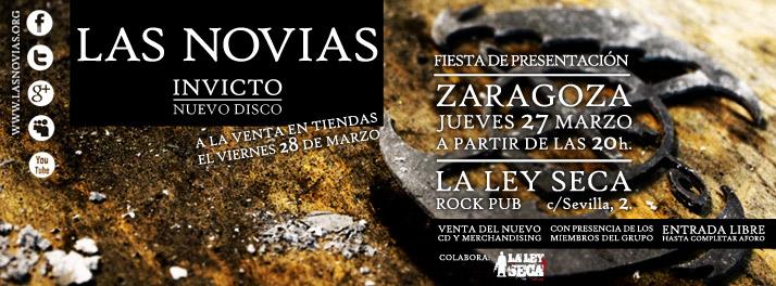 Fiesta de presentación del disco en Zaragoza 27-3-14