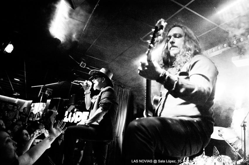 LAS NOVIAS @ Sala López, 10-10-15, Zaragoza © Ángel Burbano, 2015.