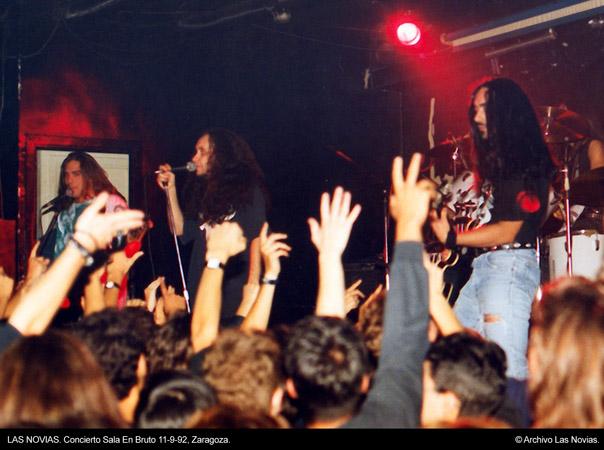 Las Novias - En Bruto, Zaragoza, 11-09-92 © Archivo Las Novias