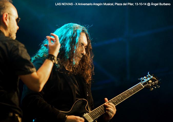 LAS NOVIAS - Conciertos Imposibles / X Aniversario Aragón Musical, Plaza del Pilar, 13-10-14 © Ángel Burbano
